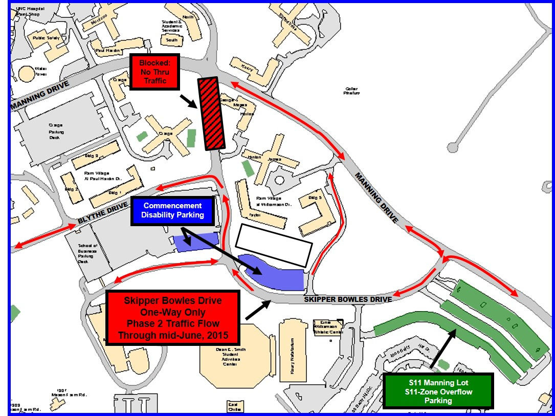 Unc Parking Map S11 Map   Transportation and Parking Unc Parking Map