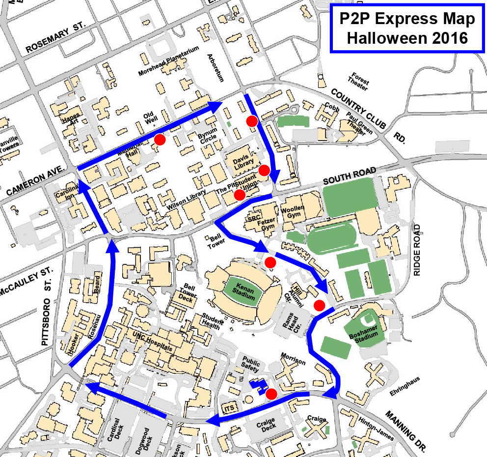 halloween p2p express campus shuttle - Halloween Express Raleigh