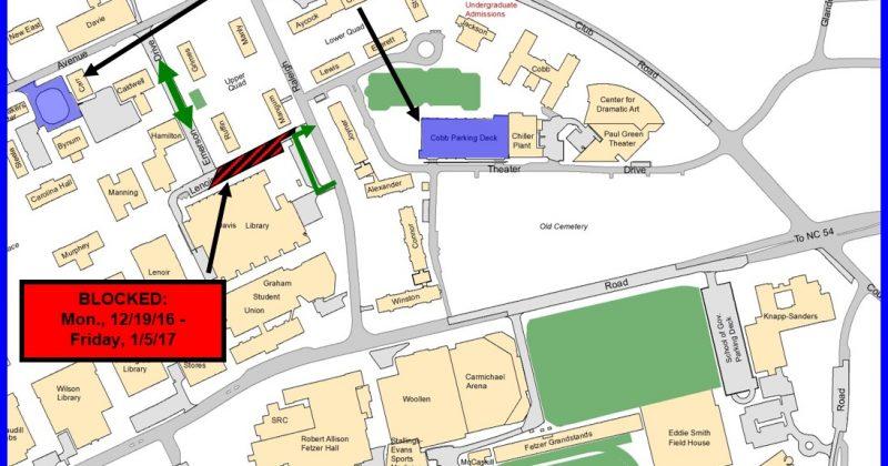 Lenoir Utility Project Map