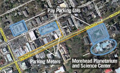 Morehead Planetarium - Transportation and Parking