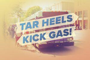 Tar Heels Kick Gas! Decorative Image