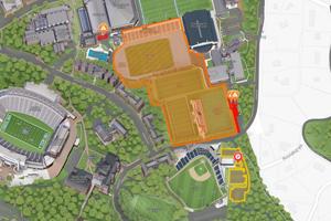Central Campus Athletics Construction Banner