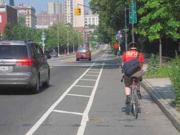 Buffered Bike Lane in New York City