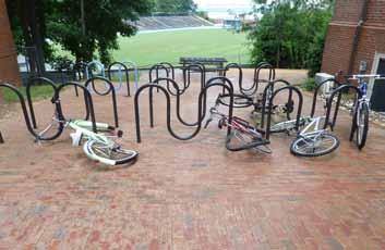 Bike Rack with Damaged Bikes
