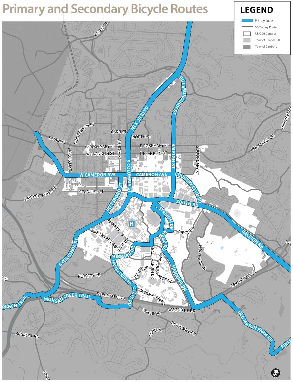 Primary and Secondary Bicycle Routes