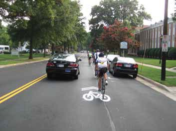 Shared Lane Markings in Charlotte