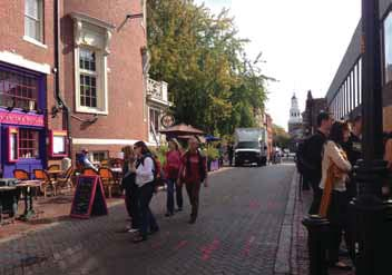 Shared Street in Cambridge, MA
