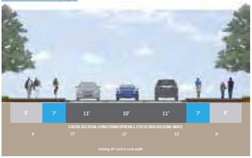 South Road Long-Term Improvements, Option 3
