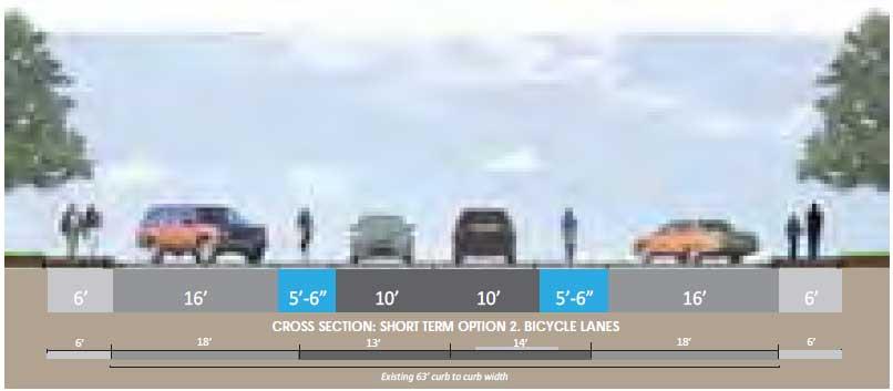 Stadium Drive Short-Term Improvements, Option 2