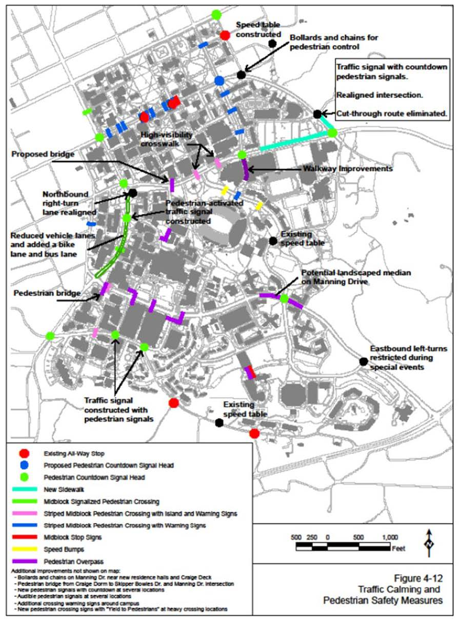 Traffic Calming and Pedestrian Improvements On Campus