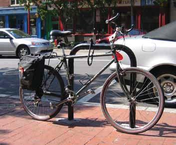 U Rack with Bike