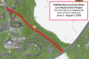 Manning Drive Work Zone
