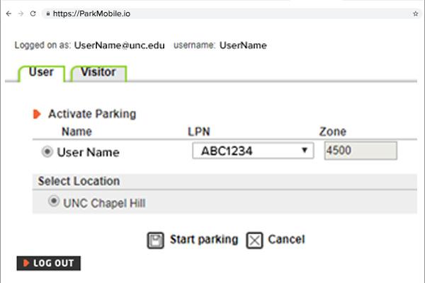 ParkMobile Zone 4500