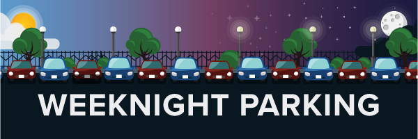 Weeknight Parking Banner