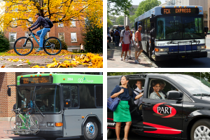 Bicycles, Buses and Vans