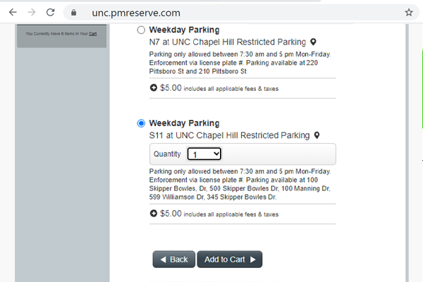 Purchase Daily Parking