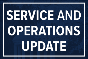 Service and Operations Update