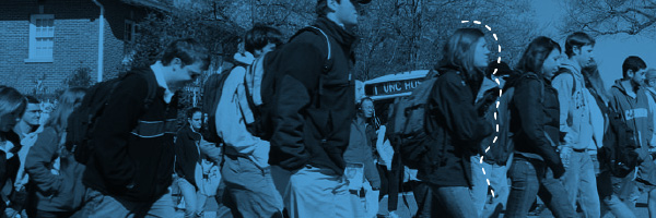 Students boarding a Chapel Hill Transit bus